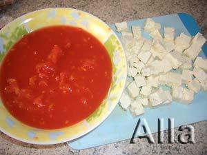 Соус из томатов с сыром Фета