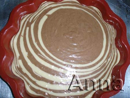 Торт зебра с кремом